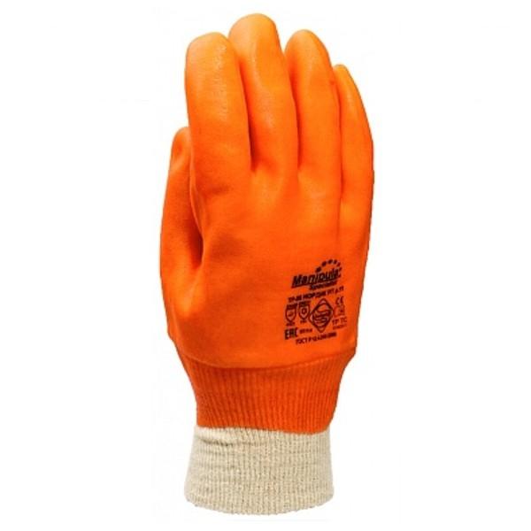 Перчатки Манипула™ Нордик РП (джерси+пенополиуретан+ПВХ)