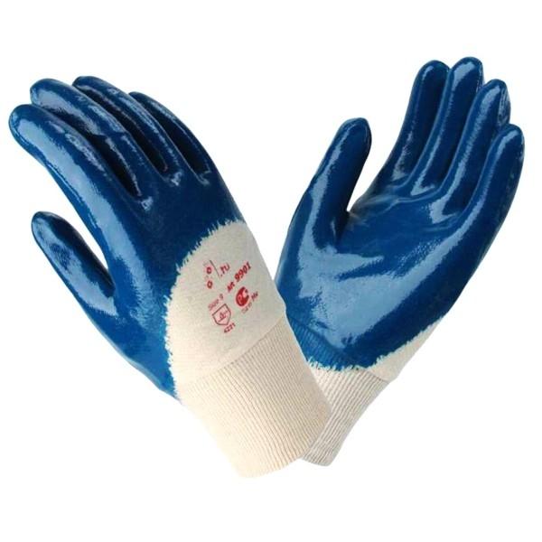 Перчатки нитриловые частичный облив манжет