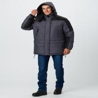 Куртка зимняя Премиум (тк.Мембрана), т.серый меланж/черный