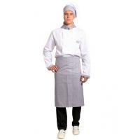 Костюм мужской повара Шеф-2 (тк.ТиСи), белый/серый