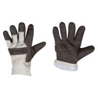 Перчатки кожаные комбинированные (искуственный мех)